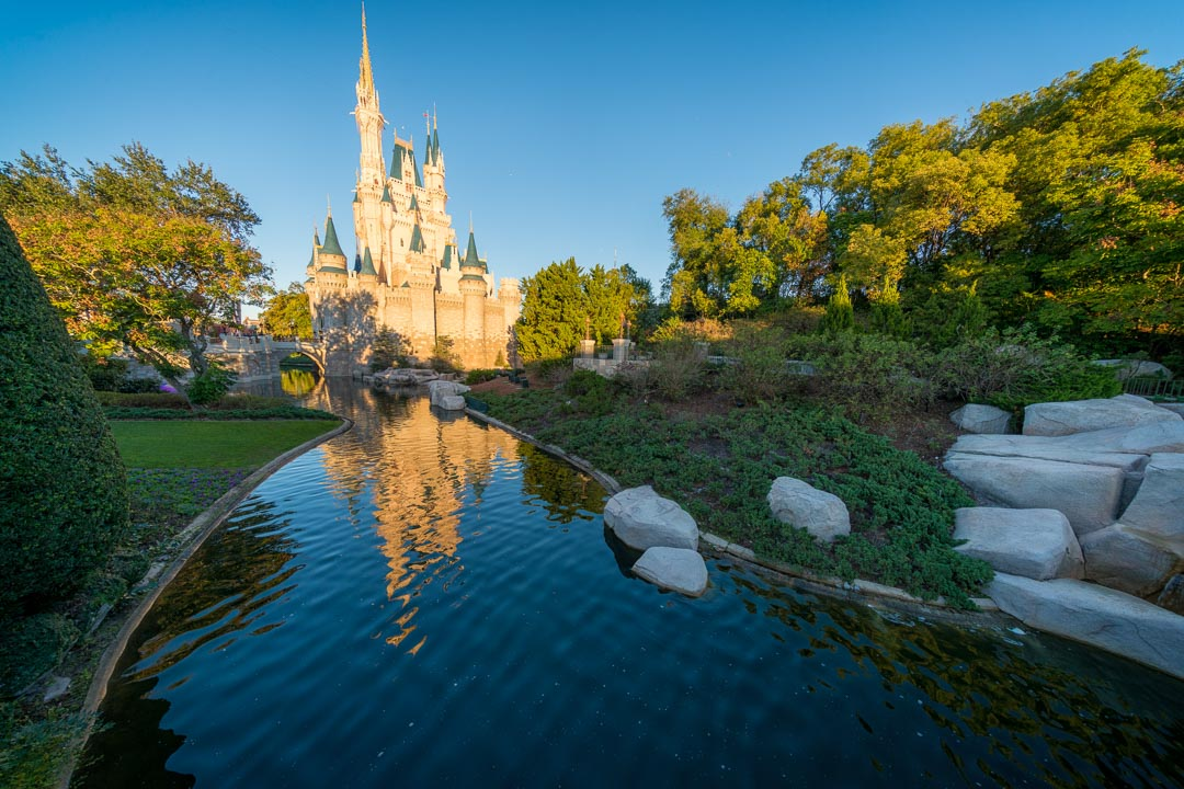 Cinderella Castle from Fantasyland Bridge