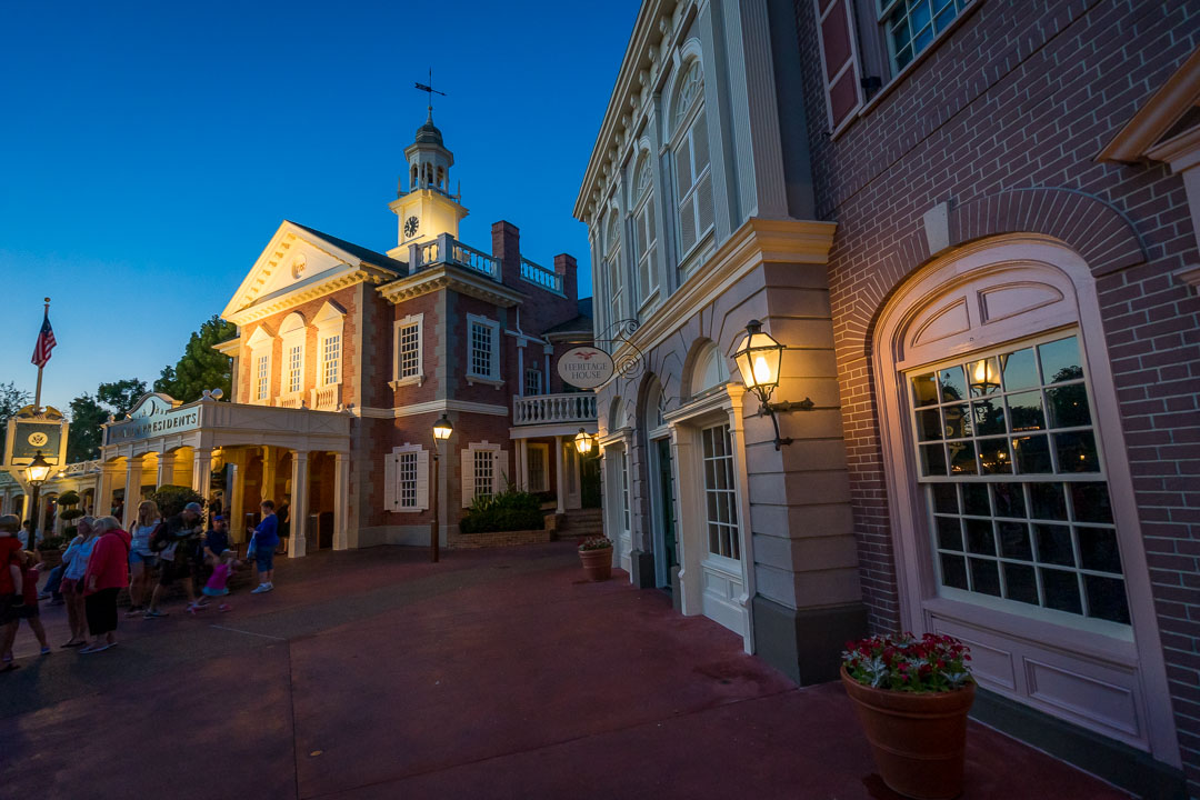 Hall of Presidents at Night